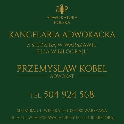 Kancelaria Adwokacka Biłgoraj – Adwokat Przemysław Kobel
